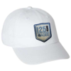 white hat with blue 125th anniversary logo